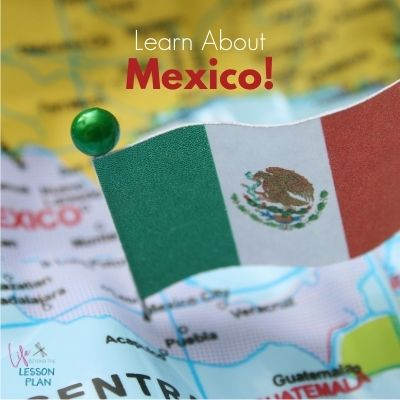 map of Mexico with Mexican flag pin