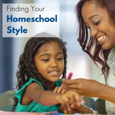 African American mother and daughter homeschooling