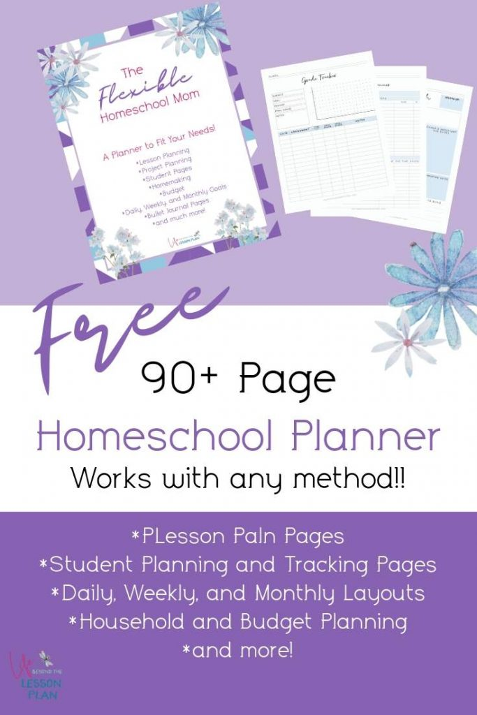 Flexible Homeschool Mom Planner