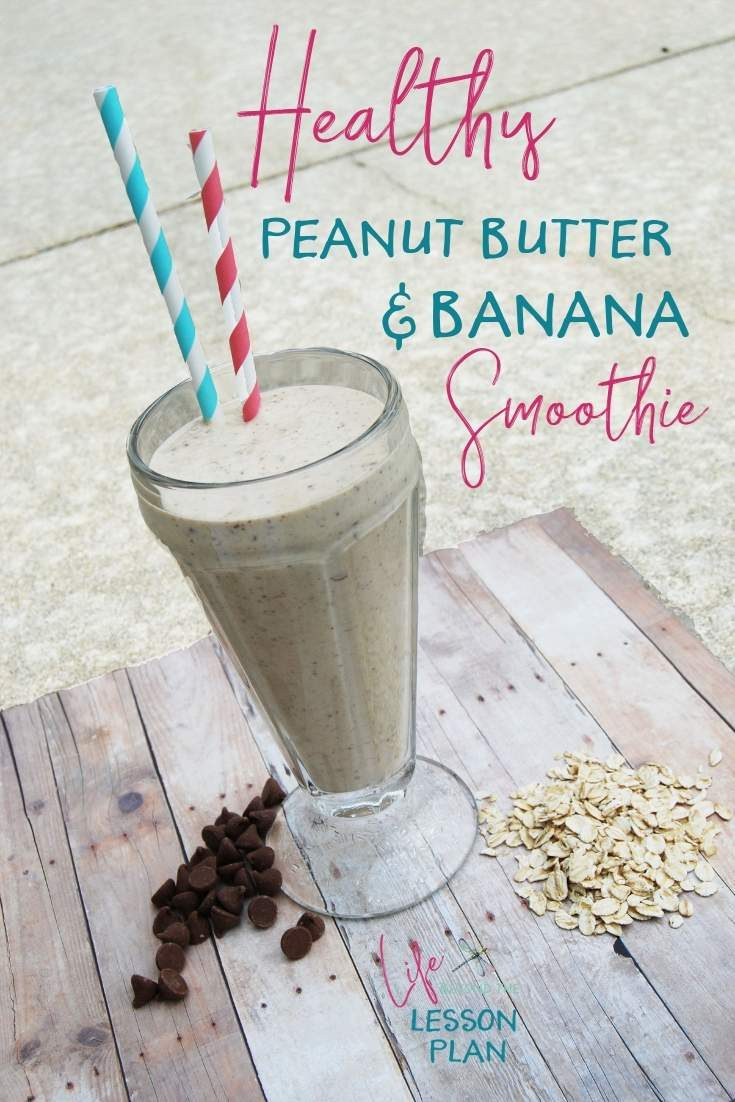 Get your nutrition in a fun and delicious way with my Healthy Peanut Butter Banana Smoothie!
