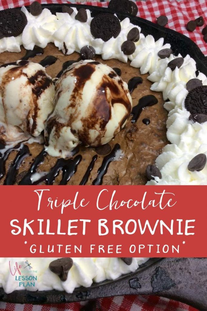 Triple Chocolate Skillet Brownie