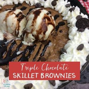 Triple Chocolate Skillet Brownies