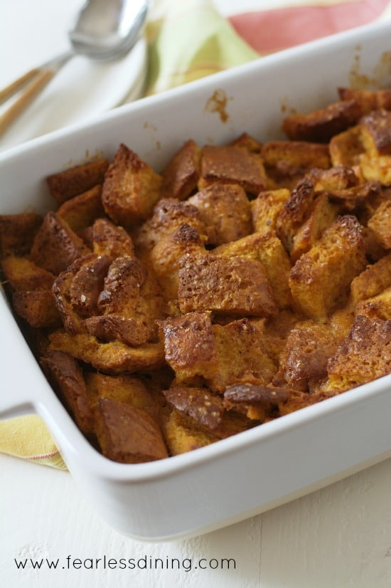 Gluten Free Sweet Potato Bread Pudding