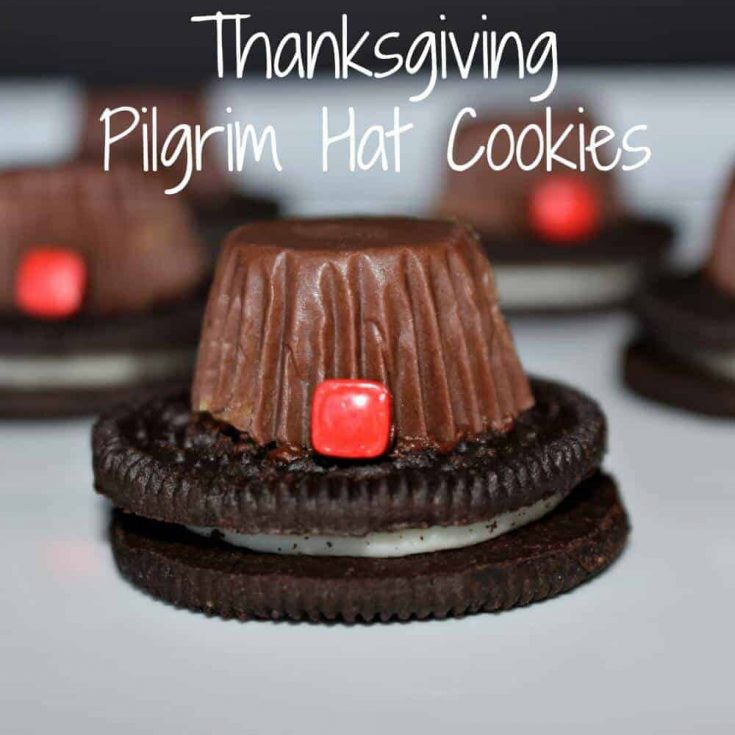 Thanksgiving Pilgrim Hat Cookies - a great Thanksgiving food craft for kids