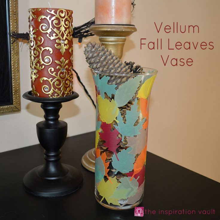 Vellum Fall Leaves Vase