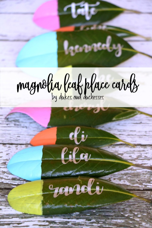 Magnolia Leaf DIY Table Place / Name Cards