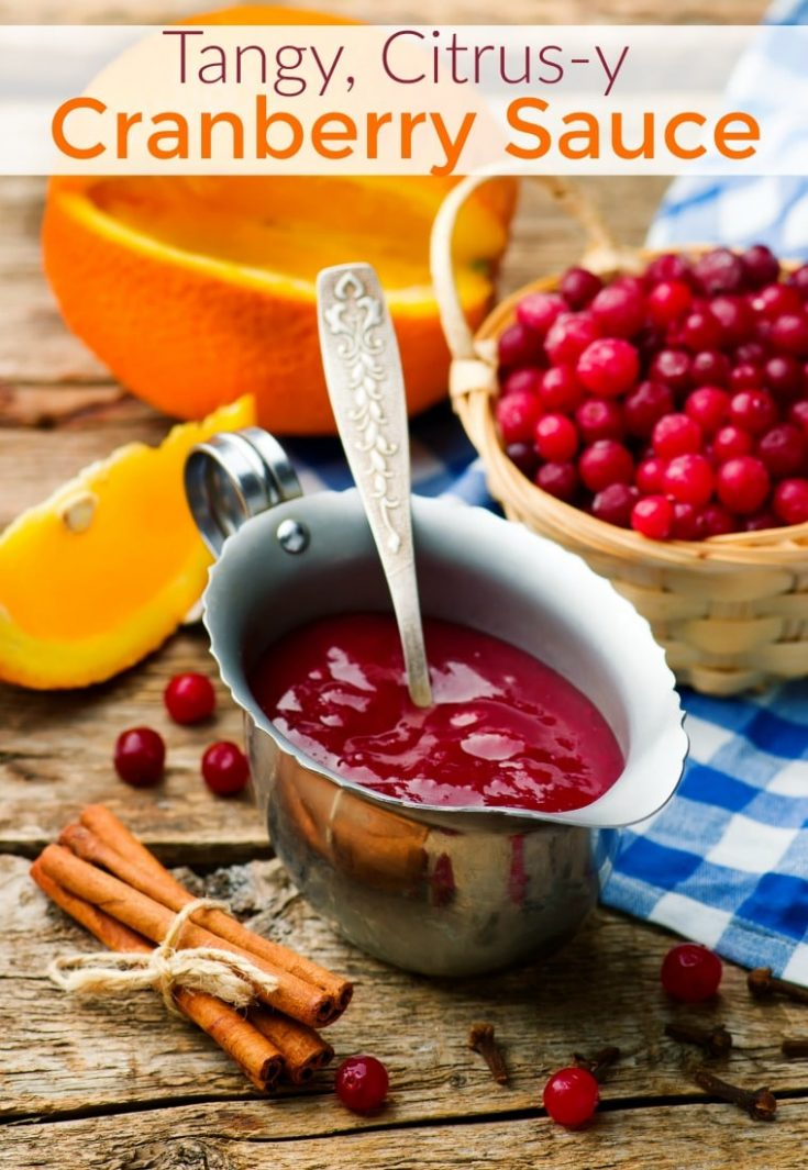 Citrus and Cranberry Sauce