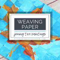 Weaving Paper - Joining Two Paintings