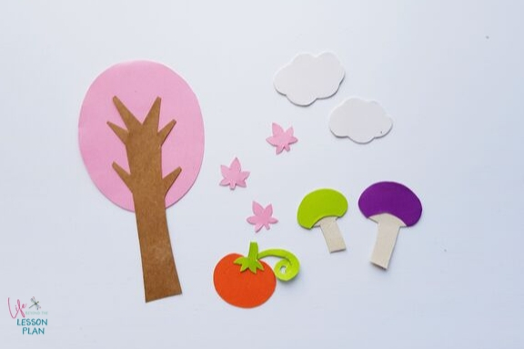 Fall 3D Papercraft elements