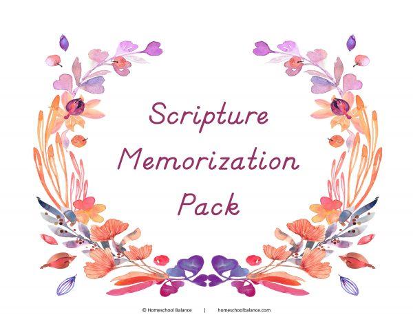 Scripture Memorization Pack