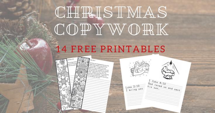Free Christmas Copywork Printable--A Heart for Christmas