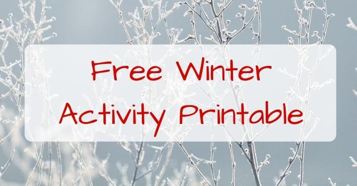 FREE – Winter Activity Printable